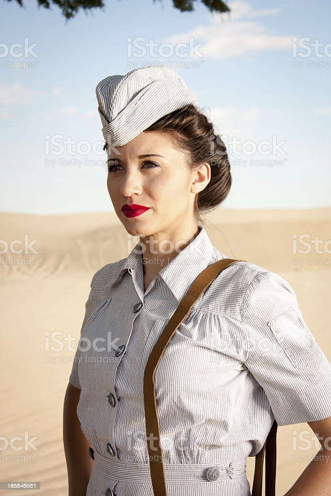 WWII Nurse portrait stock photo