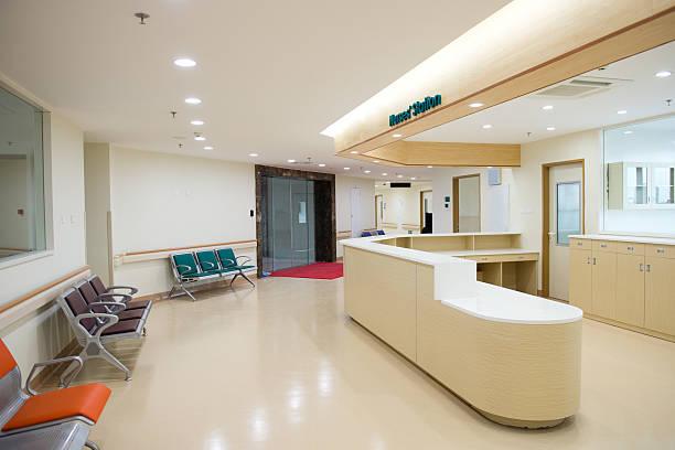 nurse station stock photo