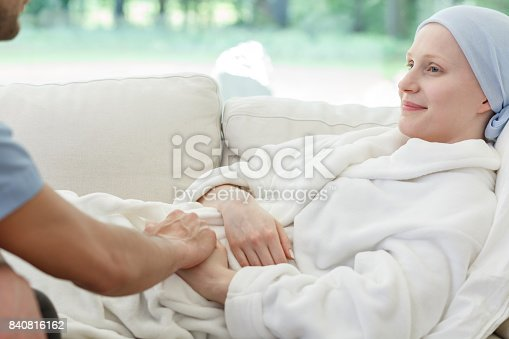 902077950istockphoto Nurse supporting woman battling cancer 840816162