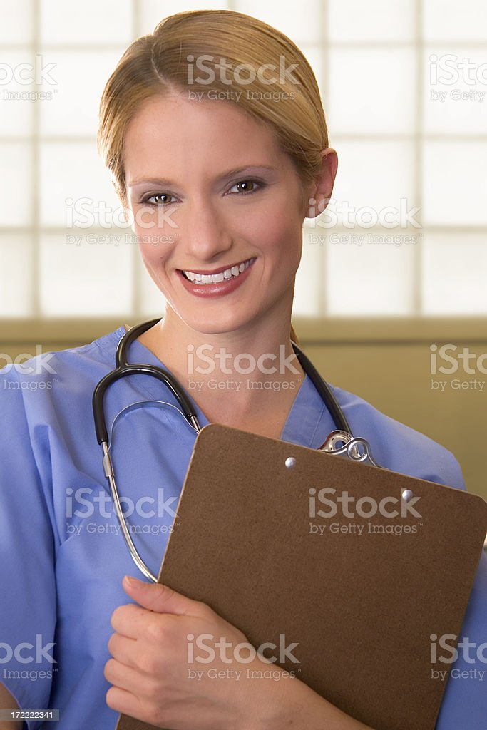 Nurse with Clipboard royalty-free stock photo