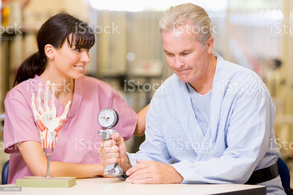 Nurse With Patient royalty-free stock photo