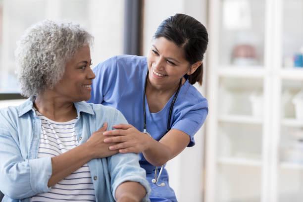 Nurse with senior patient picture id1055095174?b=1&k=6&m=1055095174&s=612x612&w=0&h=igckgplrr1hisfj1h0kzp3ip0890glixhkld3boymc8=