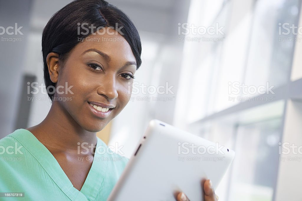 Nurse with tablet computer royalty-free stock photo
