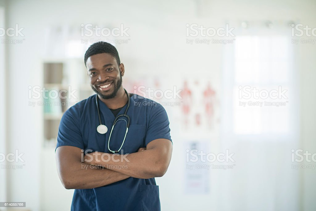 Nurse Working at the Hospital stock photo