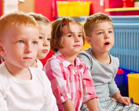 Nursery School Children Stock Photo - Download Image Now