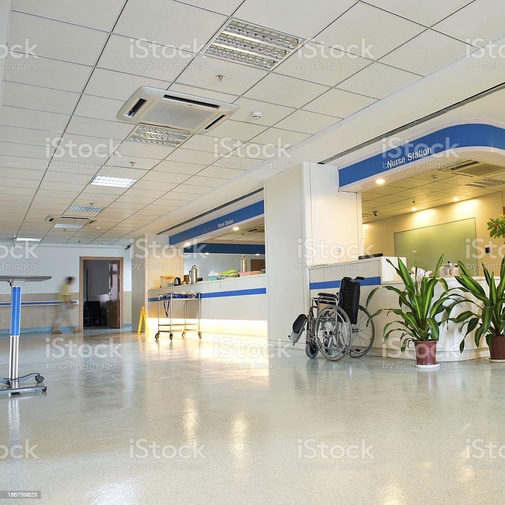nurses station stock photo