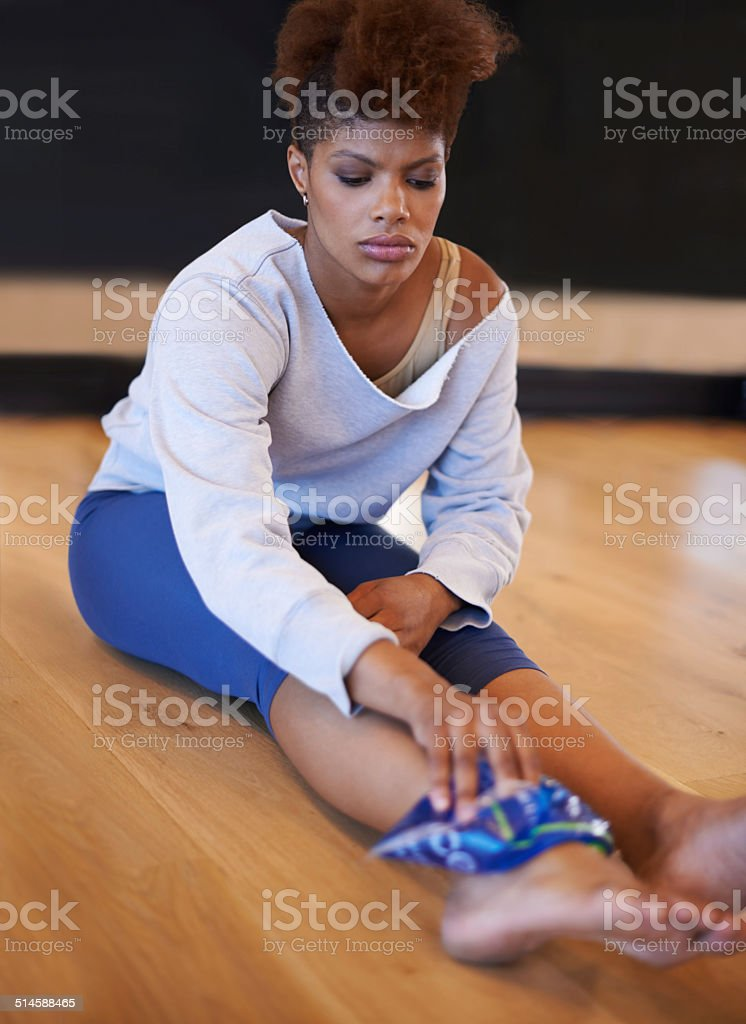 Nursing a dance injury stock photo