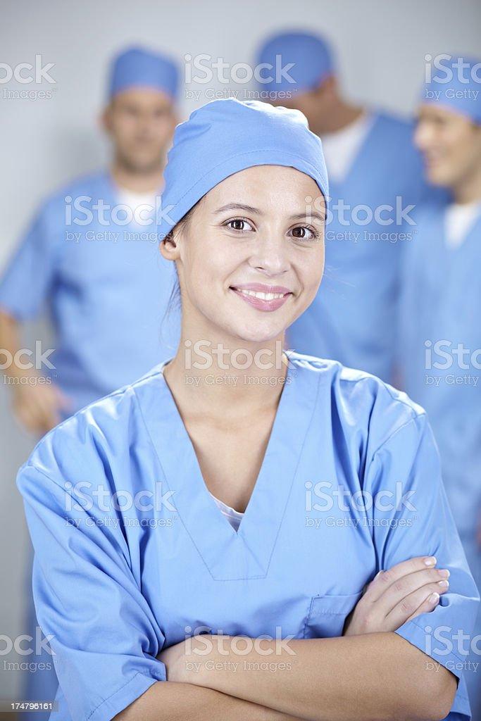 Nursing assistant royalty-free stock photo