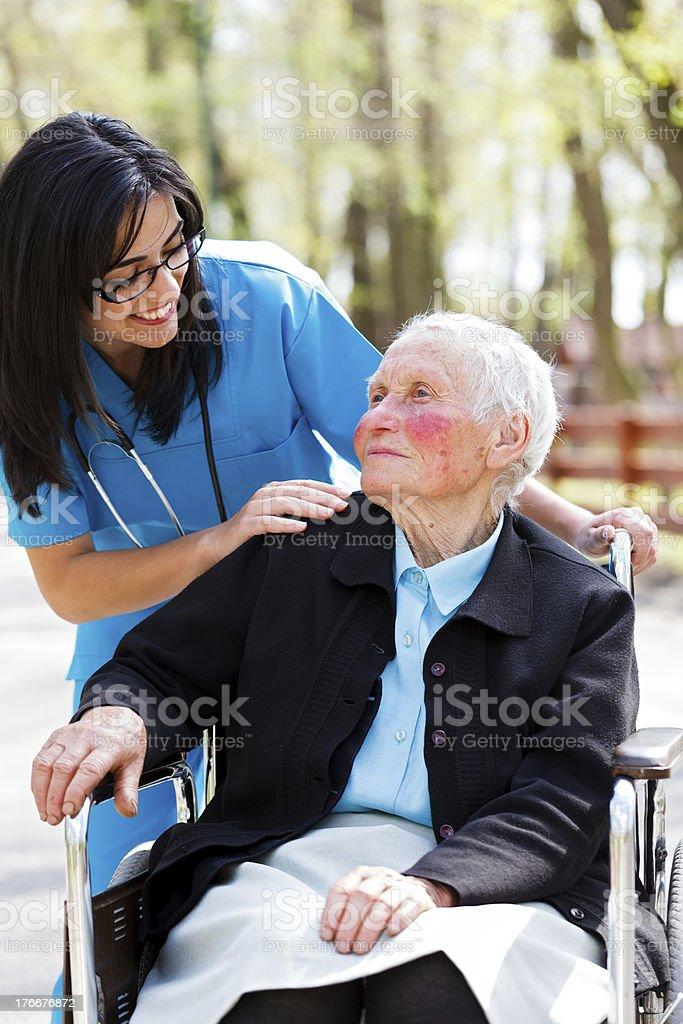 Residencia de ancianos foto de stock libre de derechos