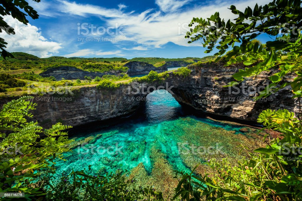 Nusa Penida island stock photo