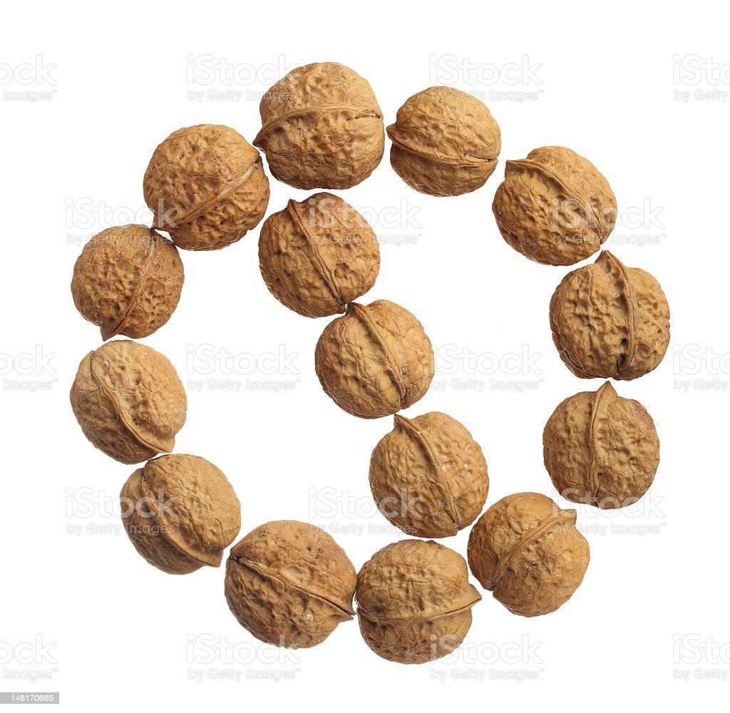 Nut allergy royalty-free stock photo