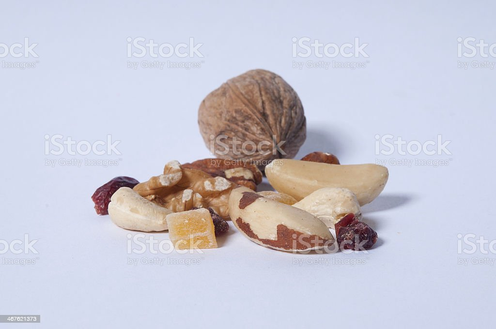 Nut and fruit royalty-free stock photo