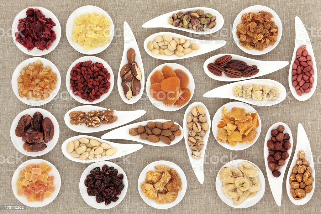Nut and Fruit Sampler royalty-free stock photo