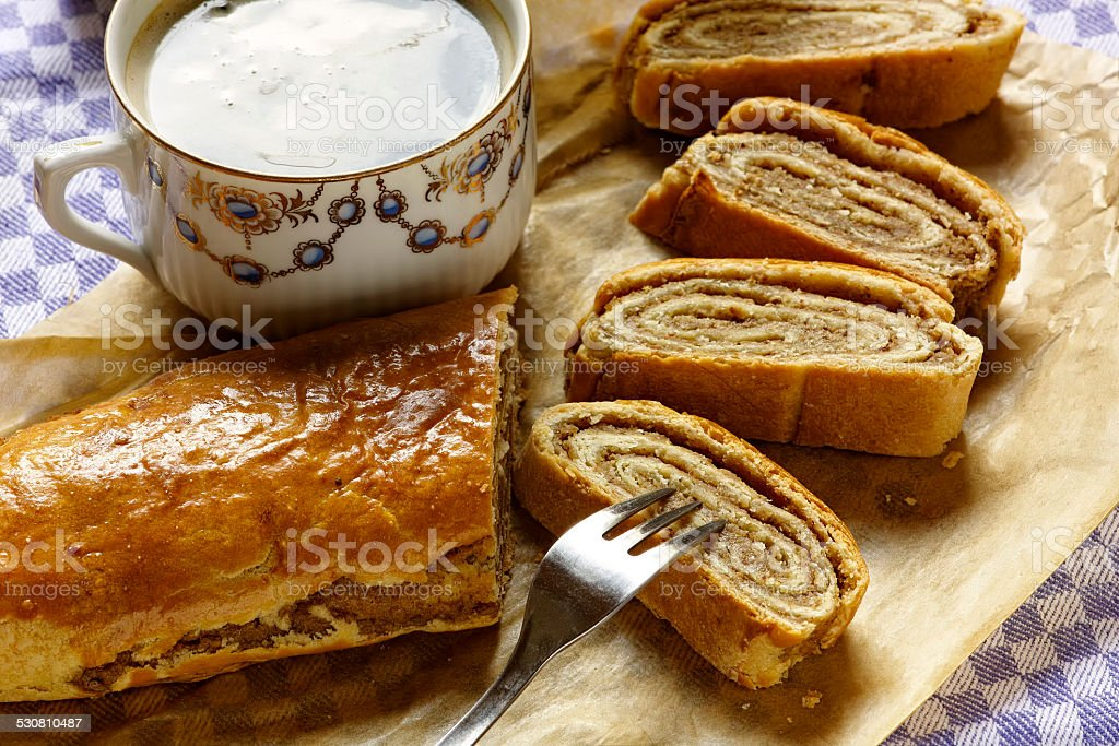 nut cake stock photo
