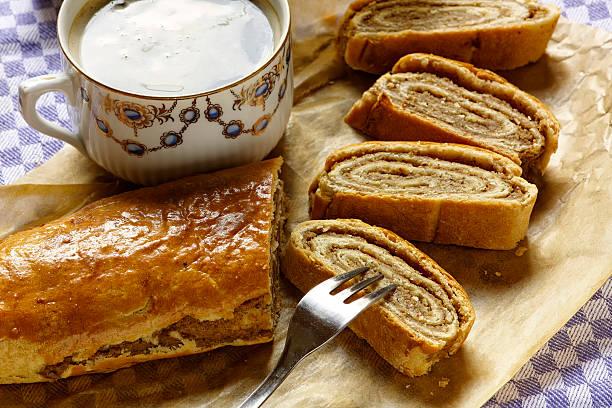 nut cake - 匈牙利文化 個照片及圖片檔