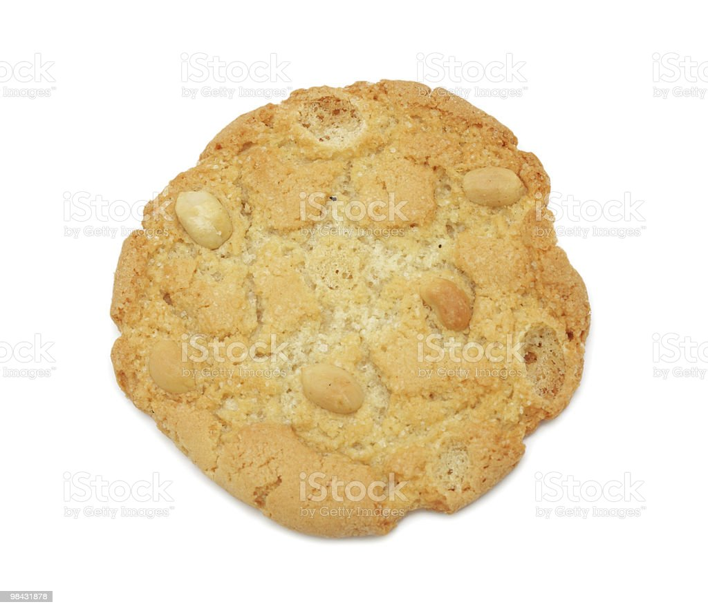 Nut Cookie, isolated royalty-free stock photo