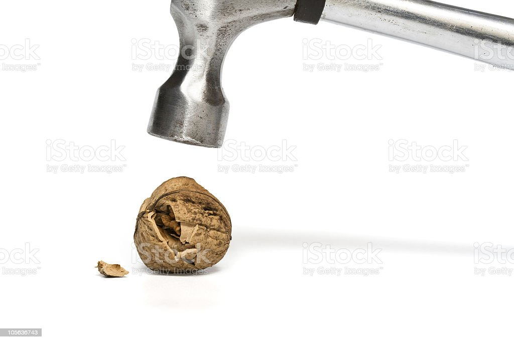 nut crack royalty-free stock photo