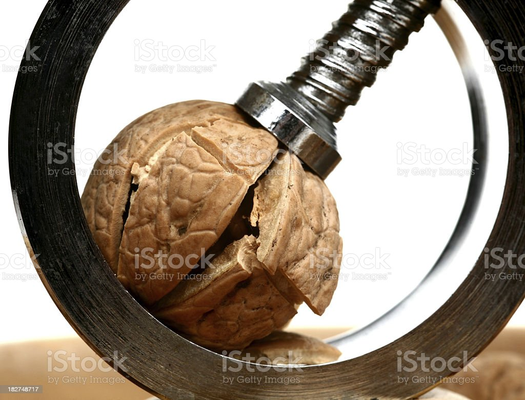 Nut cracker and walnut royalty-free stock photo