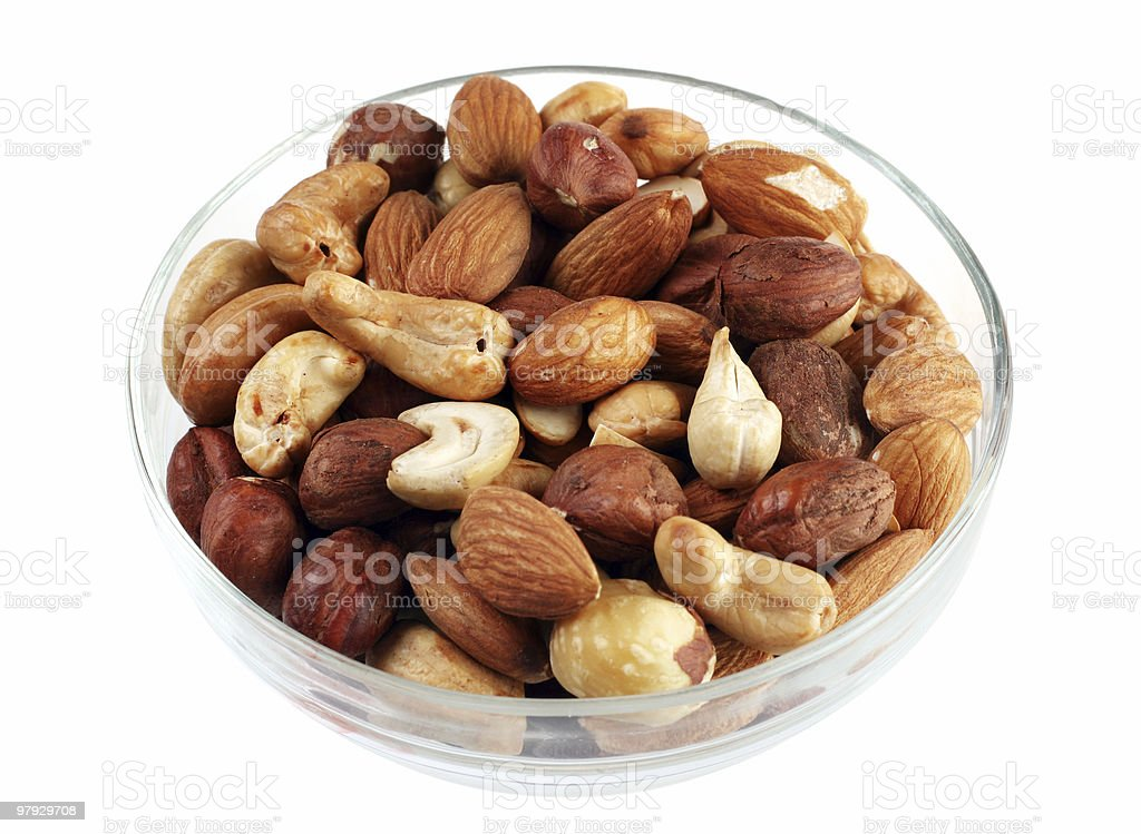 Nut mix in plate royalty-free stock photo