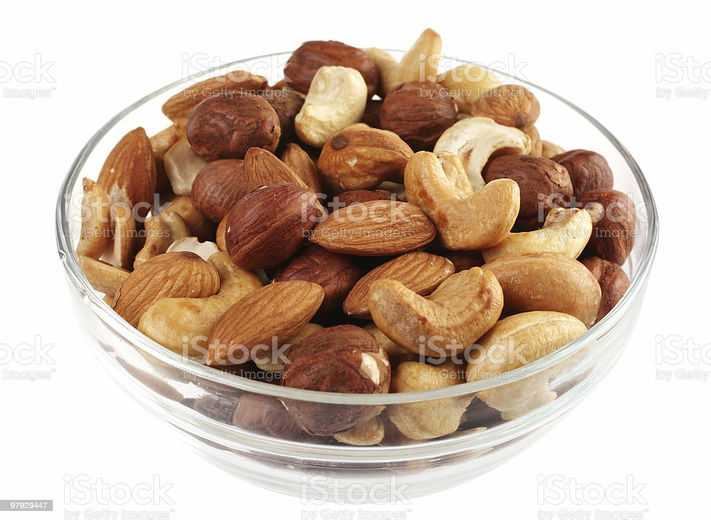 Nut mix stock photo