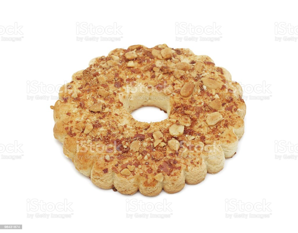 Dado ad anello torta, isolato foto stock royalty-free