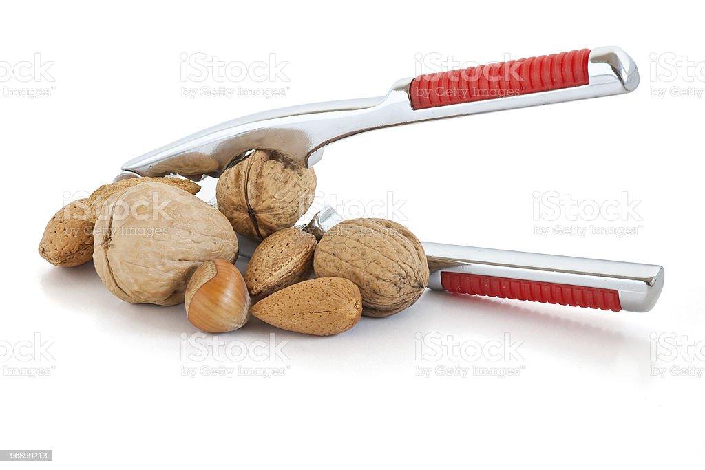 nutcracker and nuts royalty-free stock photo