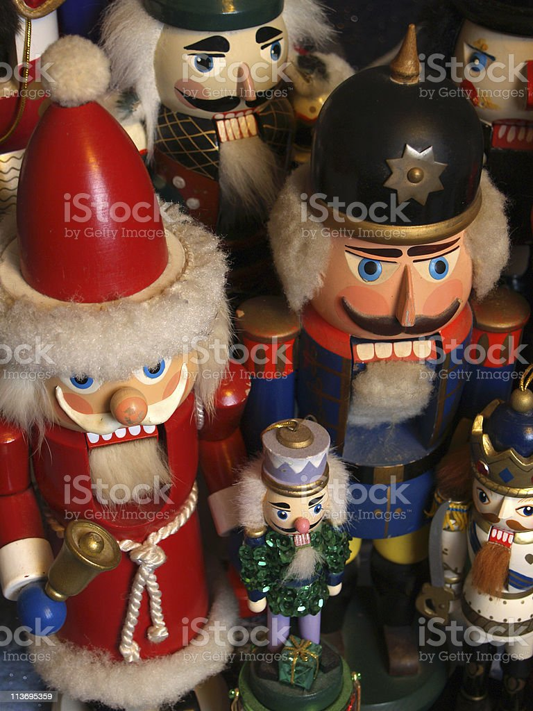 Nutcracker Collection with Santa and Soldier Figures stock photo