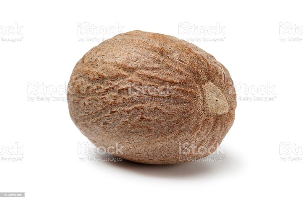 Nutmeg kernel stock photo