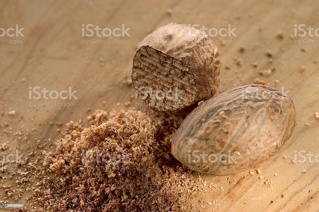 nutmeg stock photo
