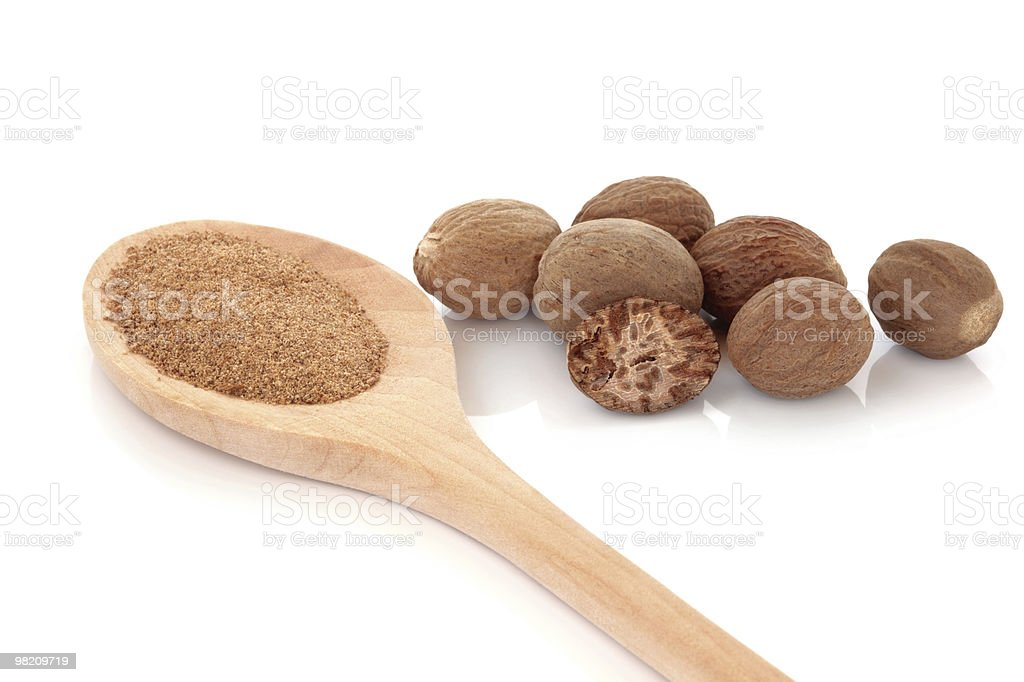 Nutmeg Spice royalty-free stock photo