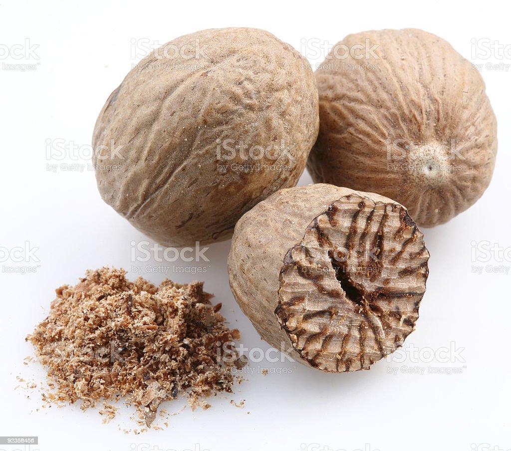 Nutmegs royalty-free stock photo