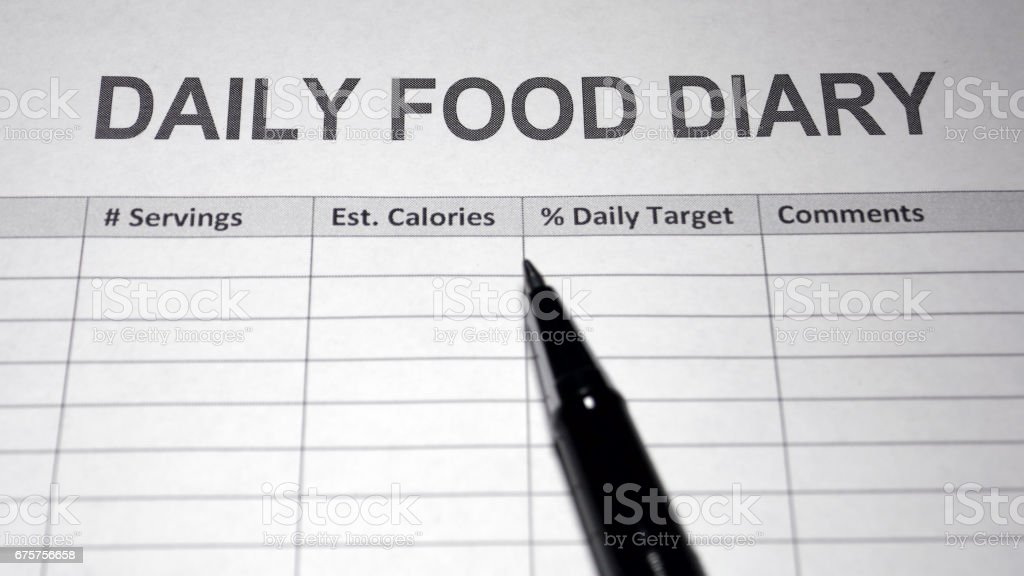 nutrition diary stock photo more pictures of body conscious istock