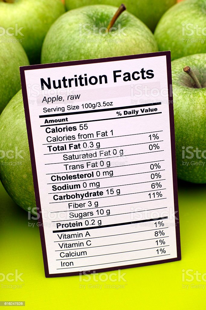 nutrition and apples There are 61 calories in 1 medium apple (without skin) get full nutrition facts and other common serving sizes of apples (without skin) including 1 oz and 100 g.