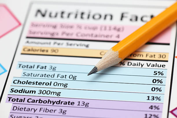 nutrition facts. - sodium stock pictures, royalty-free photos & images