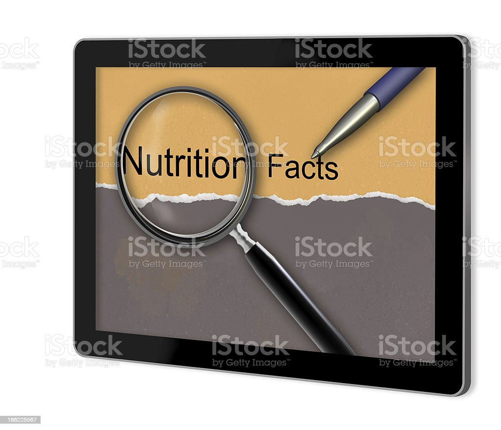 Nutrition facts royalty-free stock photo