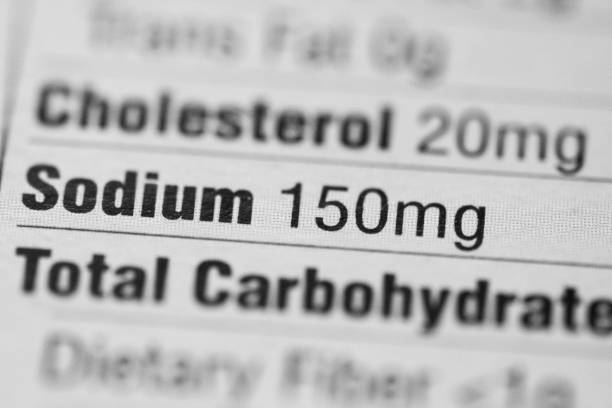 nutrition facts. sodium. - sodium stock pictures, royalty-free photos & images