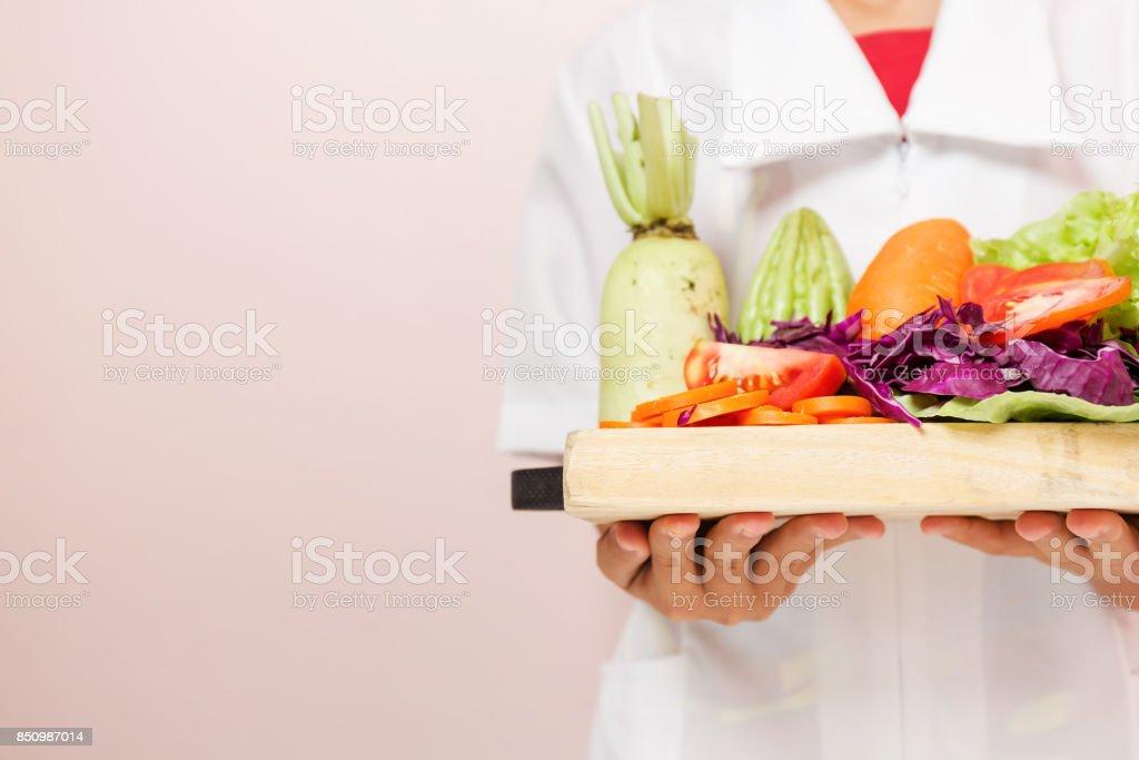 Nutrición dieta comida cuidado las verduras. - foto de stock