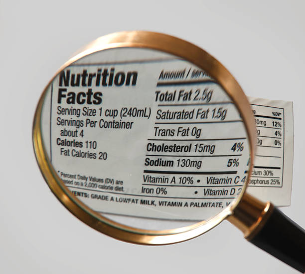 nutrition label - sodium stock pictures, royalty-free photos & images