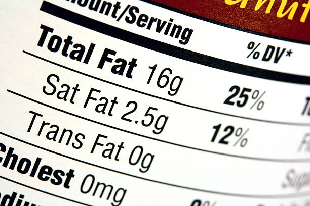 nutrition label - fda stock photos and pictures