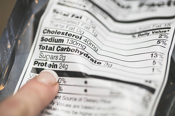 nutrition label - nutrition label stock photos and pictures