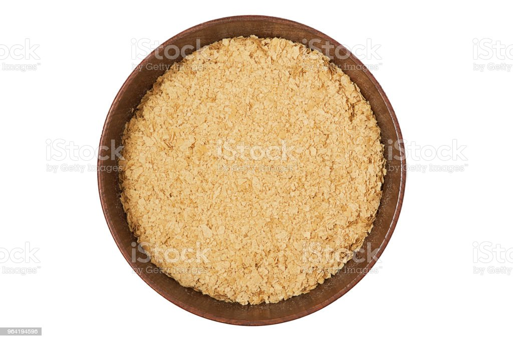 Nutritional brewers yeast flakes stock photo