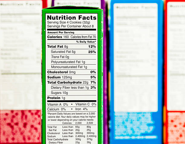 nutritional facts - nutrition label stock photos and pictures