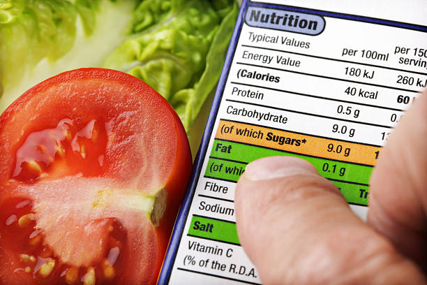 nutritional label - nutrition label stock photos and pictures