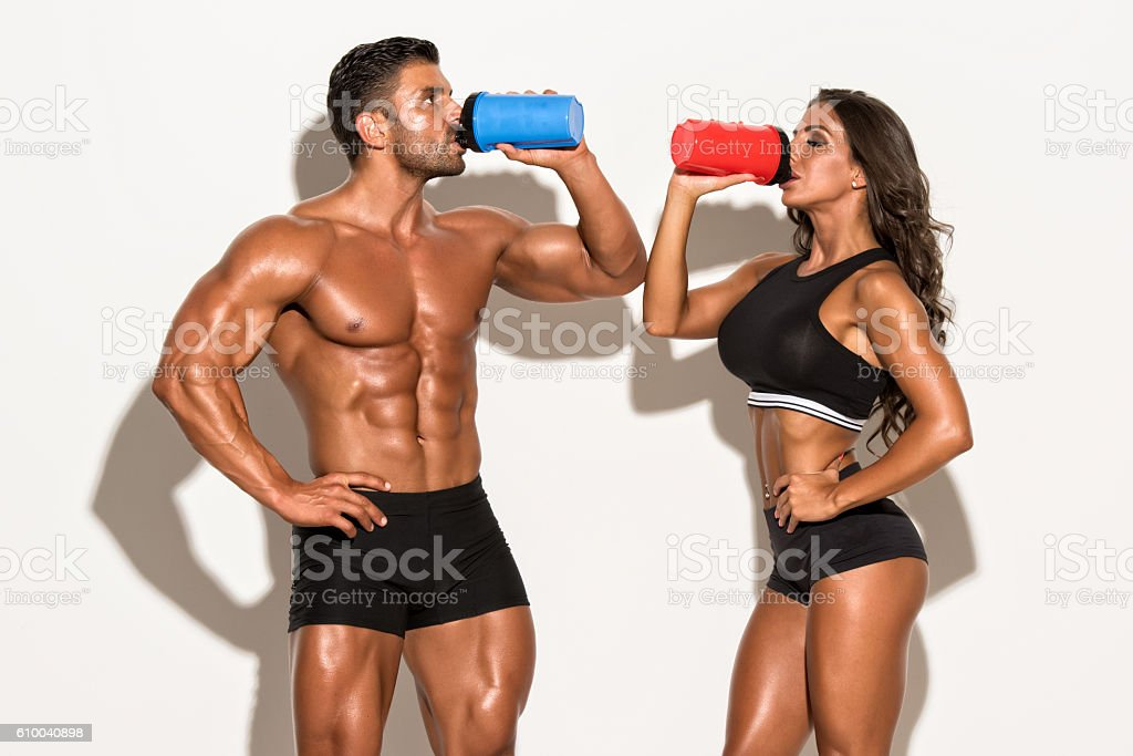 Nutritional Supplement Drinks stock photo