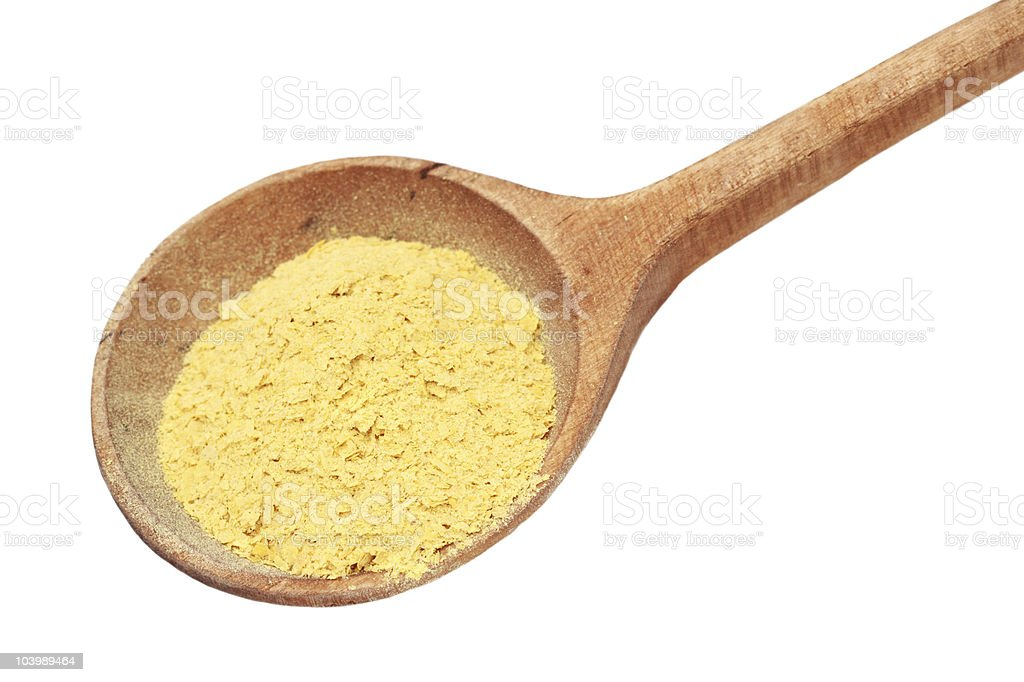 Nutritional Yeast Flakes stock photo