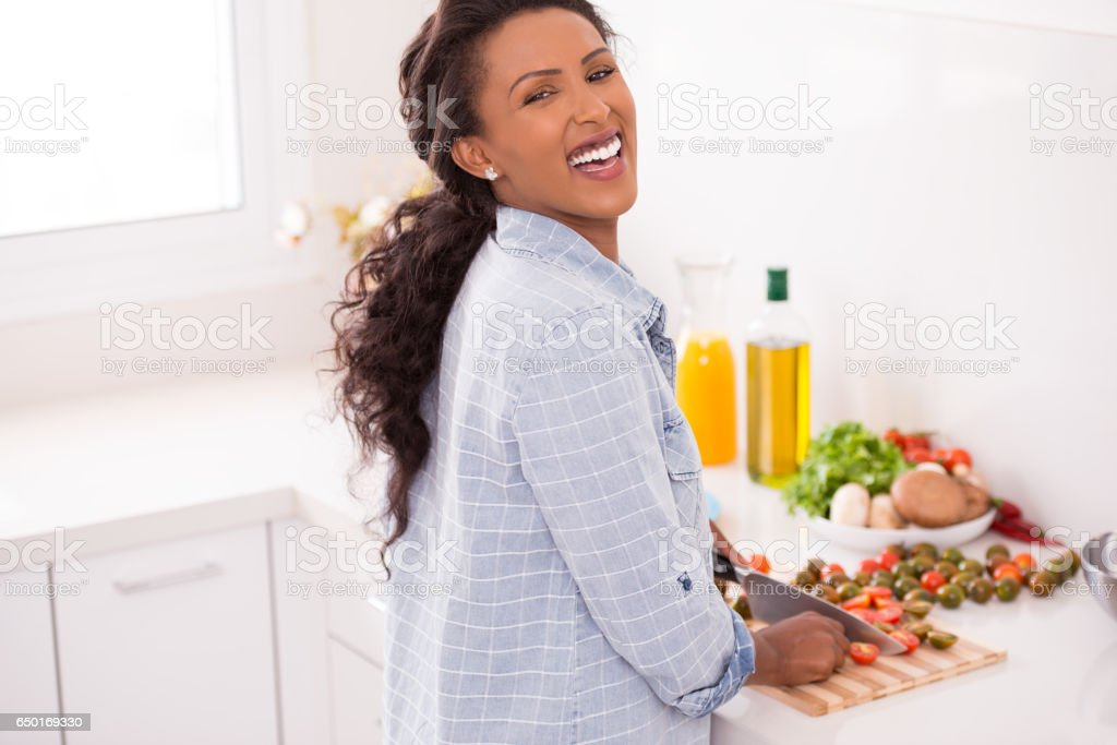 Nutritious and healthy eating. stock photo