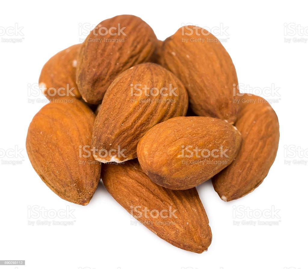 Орехи миндаля в скорлупе Стоковые фото Стоковая фотография