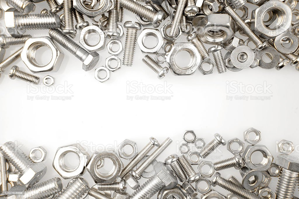 Nuts and bolts royalty-free stock photo