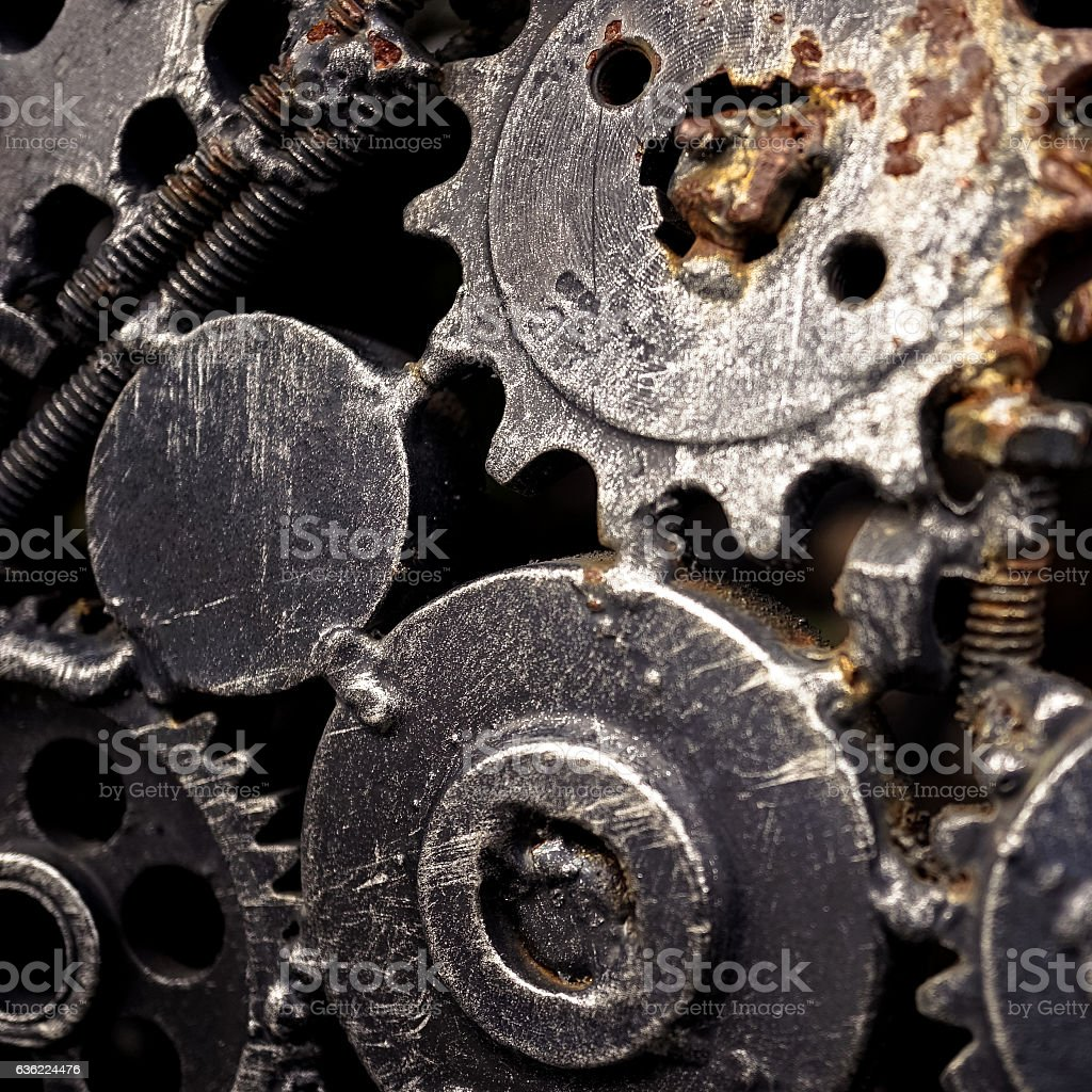 nuts and bolts texture for background stock photo