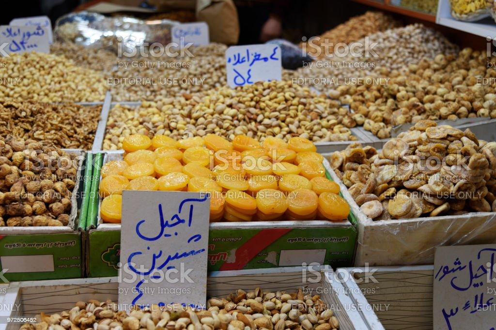 Nusse Und Trockenfruchte Shop Im Grossen Basar In Tabriz Provinz Ostaserbaidschan Iran Stockfoto Und Mehr Bilder Von Aprikose Istock